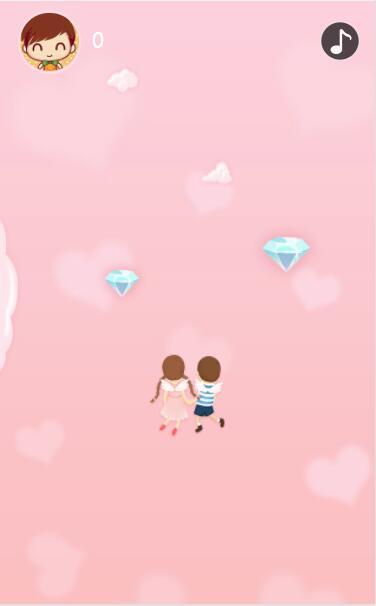 情人双双寻大礼左右滑动吃钻石积分
