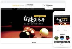 台球俱乐部专业精美网站建设