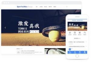 网球、羽毛球运动器材厂家产品展示网站模板