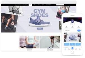 适合运动鞋子、服装在线销售的网站商城