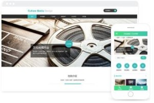 文化传媒在线销售平台网页模板